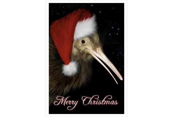 Christmas Kiwi (Merry Christmas): Card