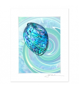 NZ Iconography, Paua Shell: 6x8 Matted Print