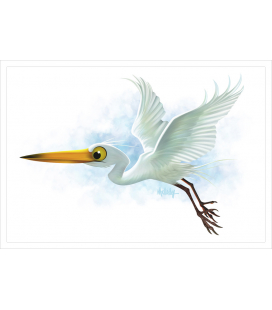 Kotuku, the White Heron: Card