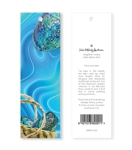 Paua and Kete Bookmark